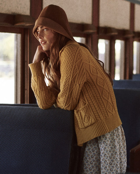The Cable Cardigan. -- GOLDENROD