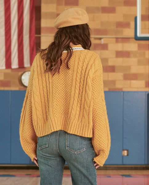 The Cable Roll Pullover. -- SUNBEAM