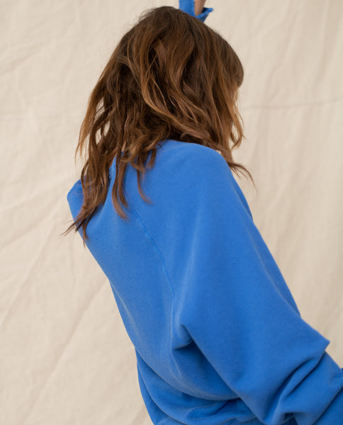 The College Sweatshirt. Solid -- BLUE YONDER