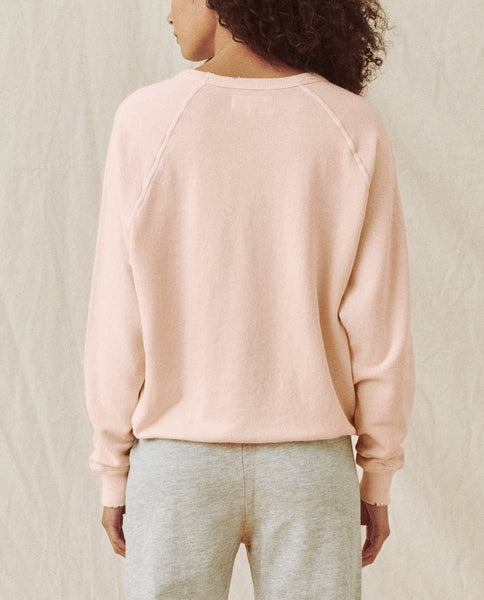 The College Sweatshirt. Solid -- Shell Pink