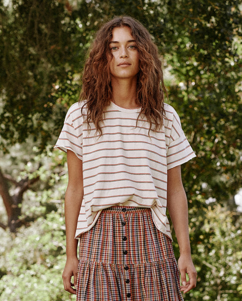 The Crop Tee. -- THE MULTI SKINNY STRIPE
