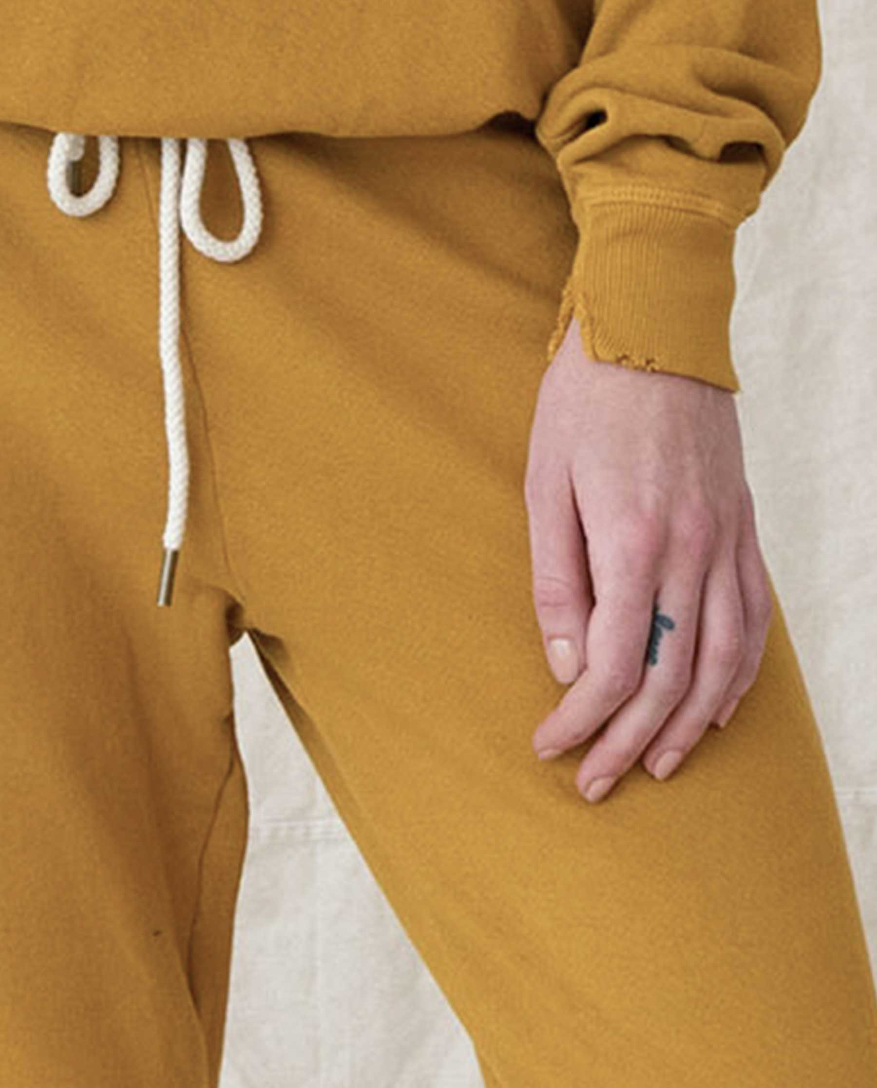 The Cropped Sweatpant. Solid -- BUTTERSCOTCH