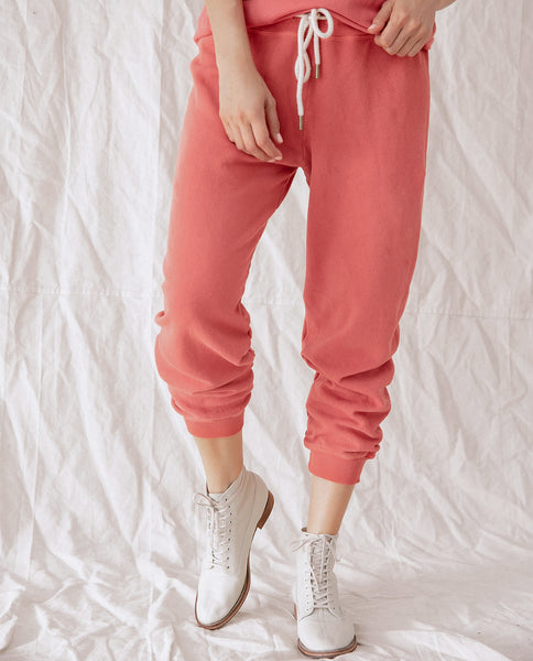 The Cropped Sweatpant. Solid -- CARDINAL