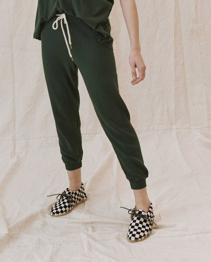 The Cropped Sweatpant. Solid -- CLOVER