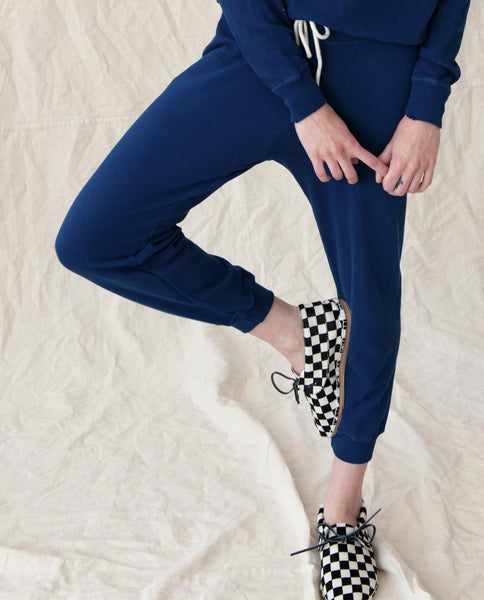 The Cropped Sweatpant. Solid -- COBALT