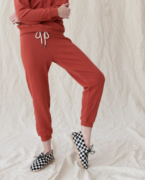 The Cropped Sweatpant. Solid -- MAPLE