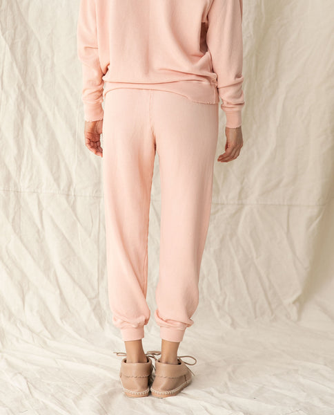 The Cropped Sweatpant. Solid -- PEACH PIE