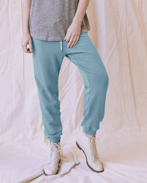 The Cropped Sweatpant. -- TURQUOISE
