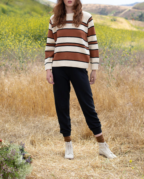 The Dune Sweater. -- SWEET TEA STRIPE