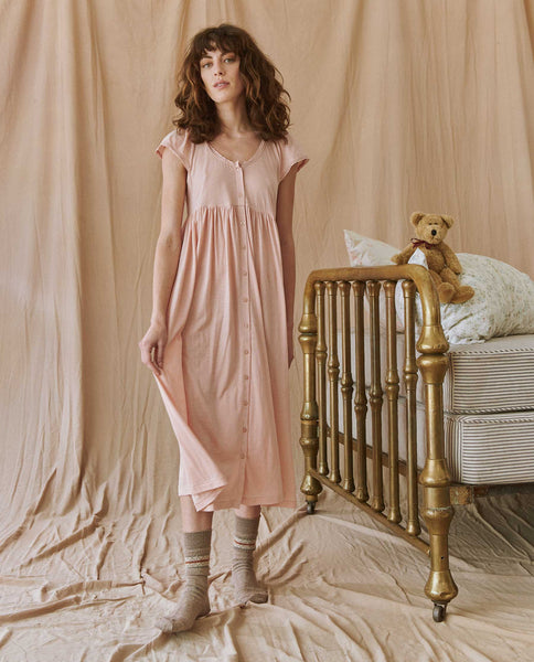 The Flutter Lace Sleep Dress. -- ROSE DUST