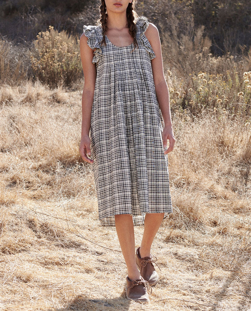 The Flutter Tulip Dress. -- PATCHWORK PLAID
