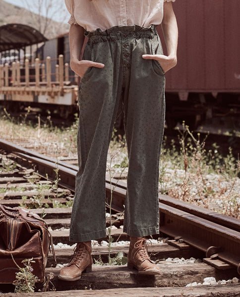 The Gunny Sack Trouser. -- ARMY DITSY FLORAL