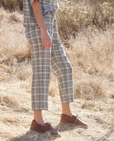 The Gunny Sack Trouser. -- PATCHWORK PLAID
