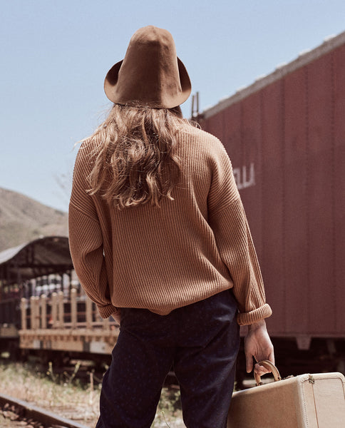 The Henley Sweater. -- CAMEL