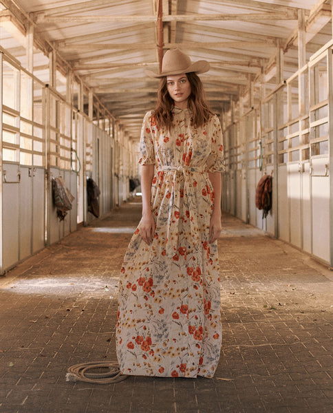 The Kerchief Gown. -- POPPY FIELD FLORAL