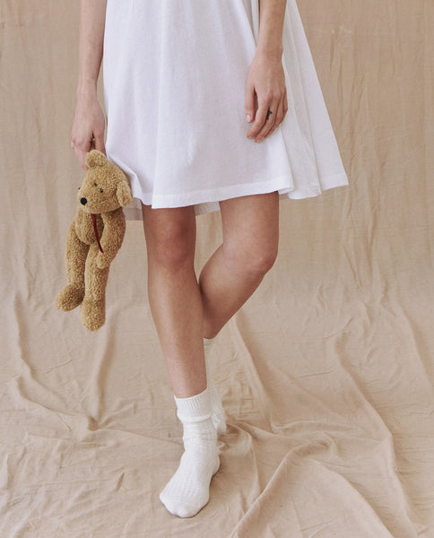 The Lace Short Sleep Dress. -- TRUE WHITE