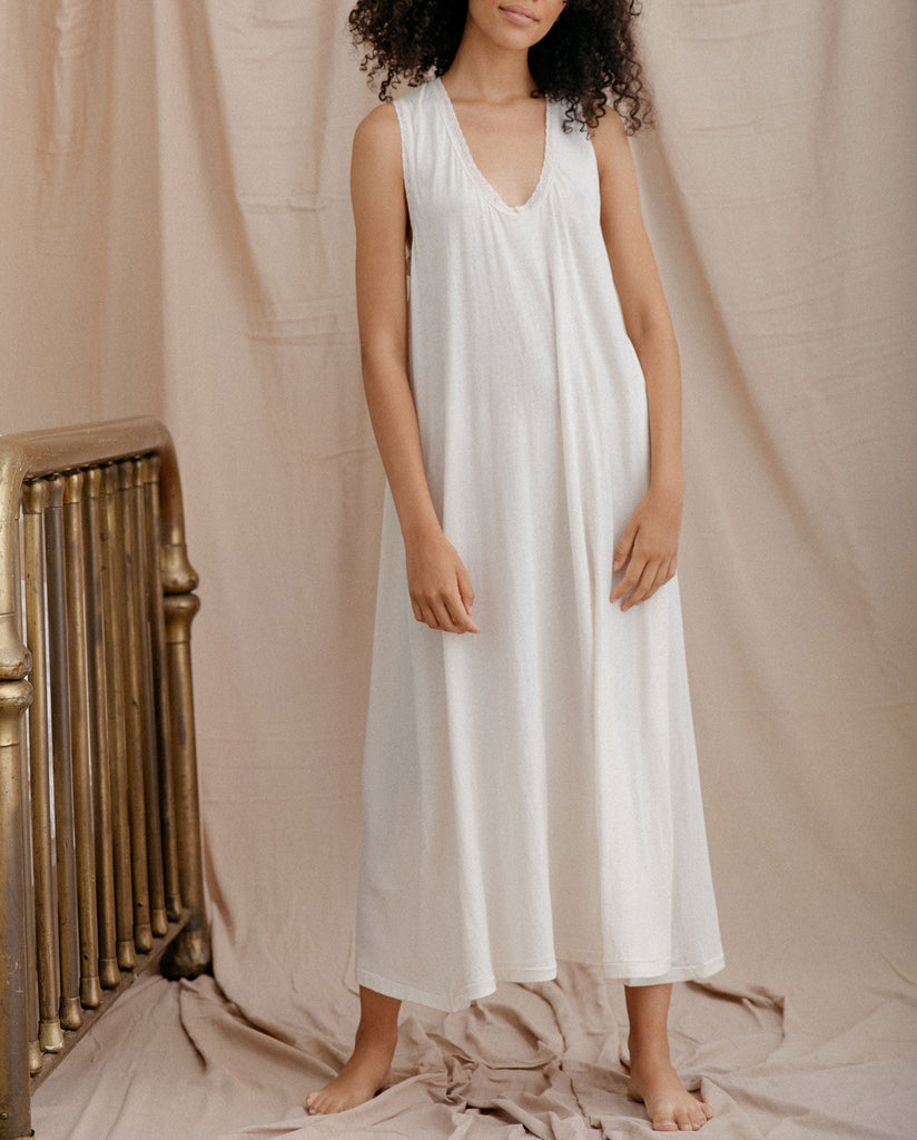 The Lace Sleep Dress. -- WASHED WHITE