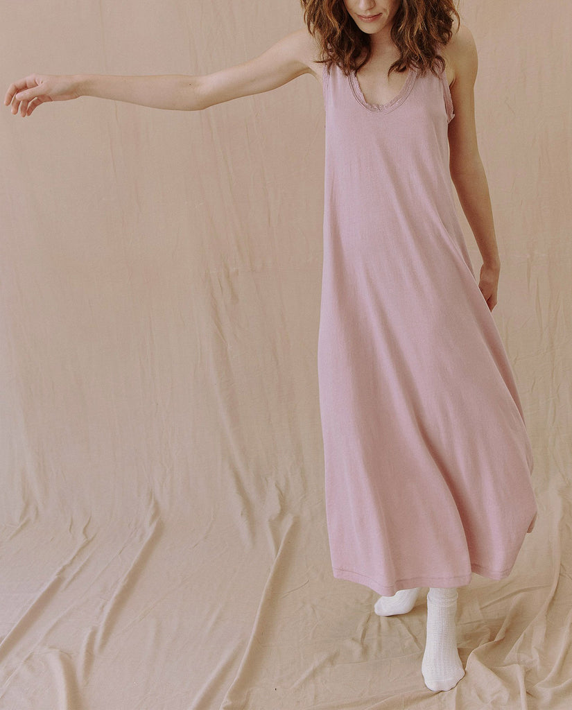 The Lace Sleep Dress. -- SOFT LAVENDER