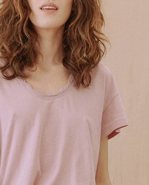 The Lace Tee. -- SOFT LAVENDER