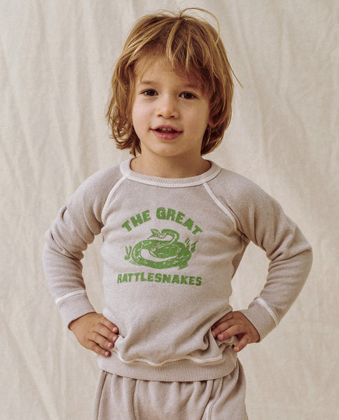 The Little College Sweatshirt. Graphic -- Oyster With Rattlesnake Graphic