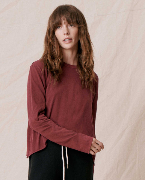 The Long Sleeve Crop Tee. -- ZINFANDEL