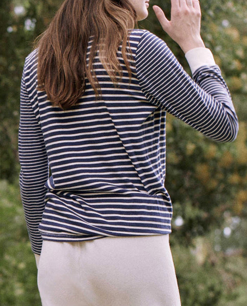 The Long Sleeve Slim Tee. Stripe -- COLLEGE STRIPE MIX