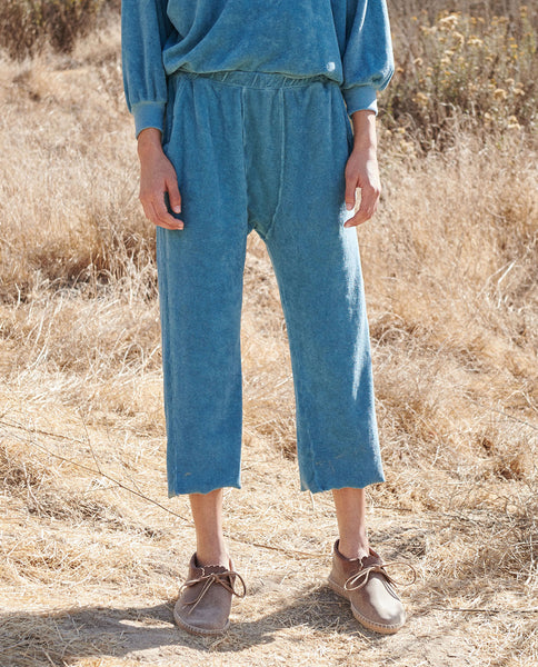The Micro Terry Pajama Sweatpant. -- TURQUOISE