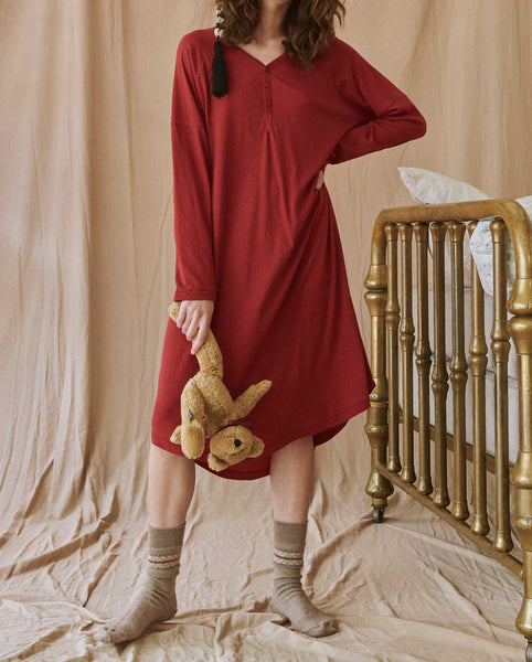The Nightshirt Dress. -- CRIMSON