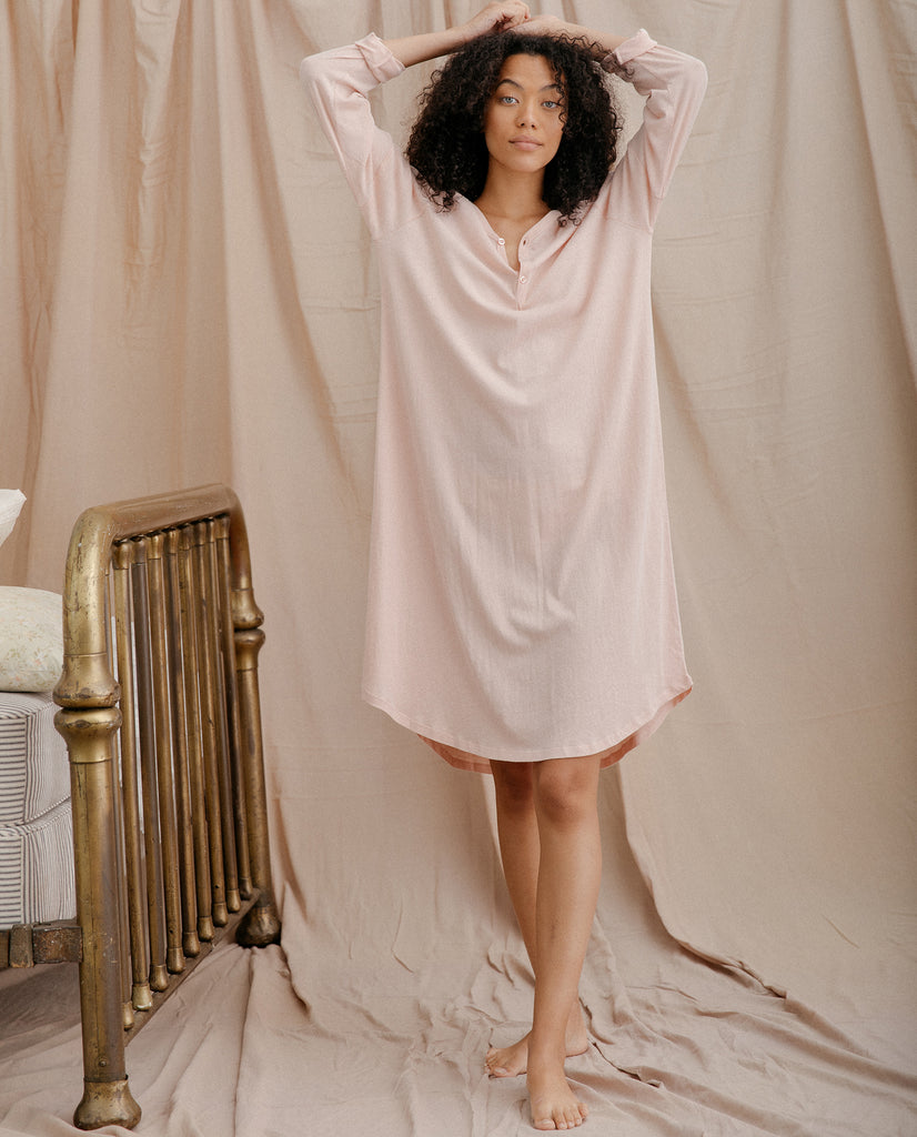 The Nightshirt Dress. -- ROSE DUST