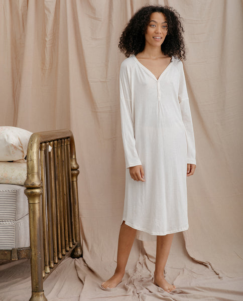 The Nightshirt Dress. -- WASHED WHITE