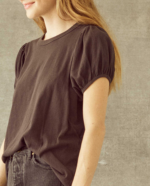 The Puff Sleeve Tee. -- Almost Black