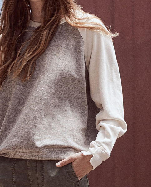 The Recreation Sweatshirt. -- VARSITY GREY WITH WASHED WHITE