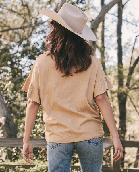 The Ruffle Sleeve Tee. -- MARLED SUNRISE