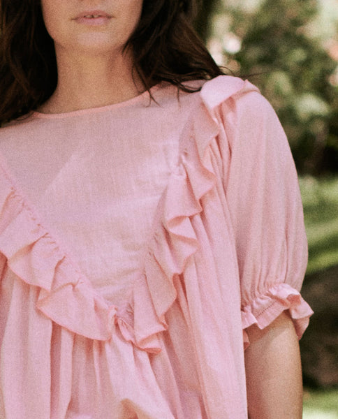 The Ruffle Triangle Top. -- TULIP