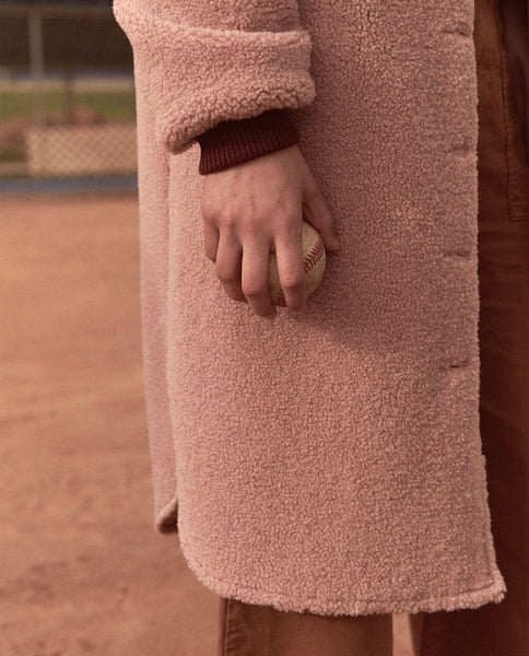 The Sherpa Coat. -- DUSTY ROSE