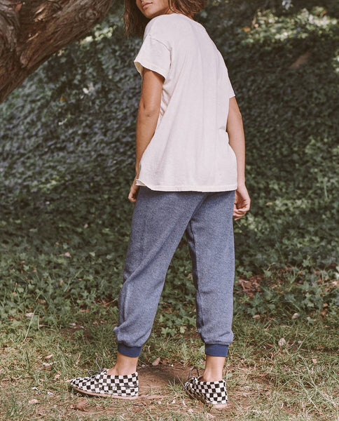 The Sherpa Cropped Sweatpant. -- COBALT
