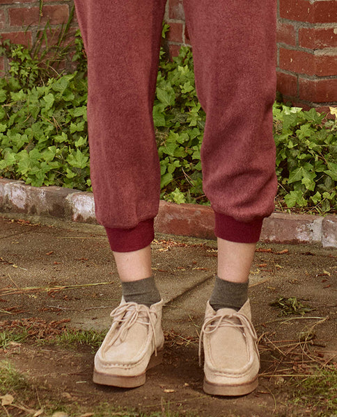 The Sherpa Cropped Sweatpant. -- ZINFANDEL
