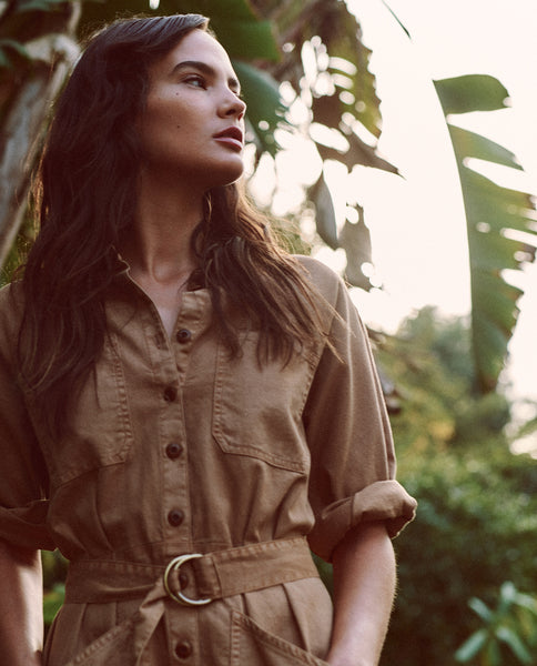 The Short Pleated Boiler Suit. -- KHAKI