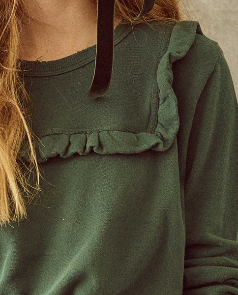 The Shrunken Bib Sweatshirt. -- Emerald