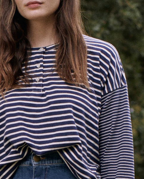 The Shrunken Henley. -- COLLEGE STRIPE MIX