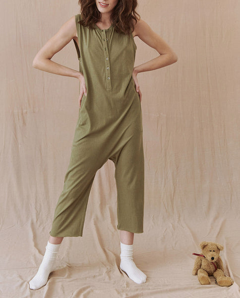 The Sleeper Jumpsuit. -- ARMY GREEN