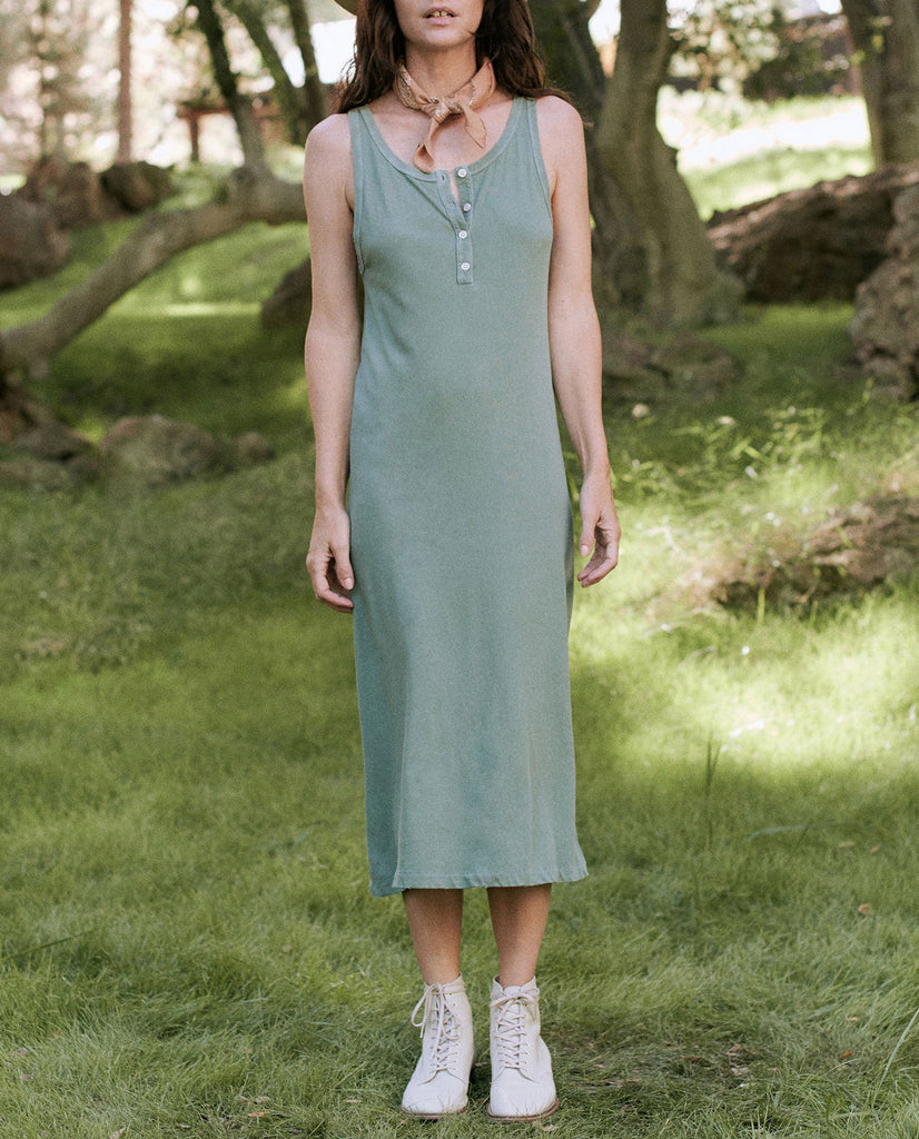 The Slim Henley Tank Dress. -- BASIL