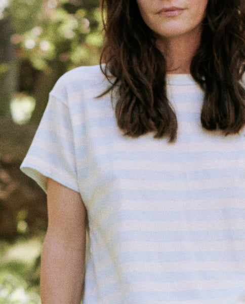 The Slim Tee. Stripe -- PALE BLUE STRIPE
