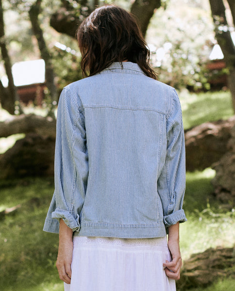 The Slouch Jean Jacket. -- BOXCAR STRIPE