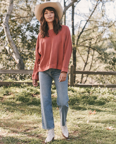 The Slouch Sweatshirt. Solid -- MARLED CARDINAL