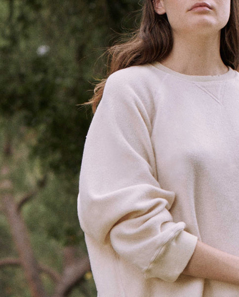 The Sherpa Slouch Sweatshirt. -- WASHED WHITE