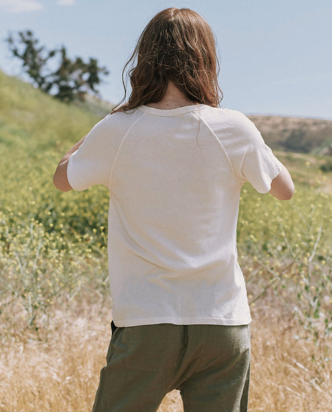 The Snap Henley. -- WASHED WHITE