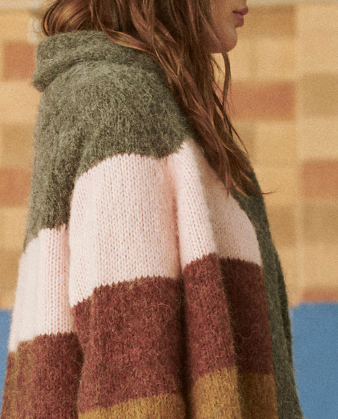 The Stripe Lodge Cardigan. -- MAPLE MULTI STRIPE