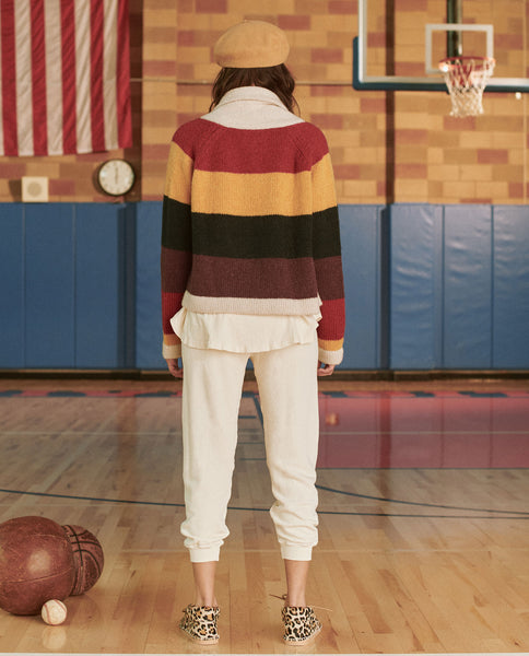 The Stripe Lodge Cardigan. -- SUNBEAM MULTI