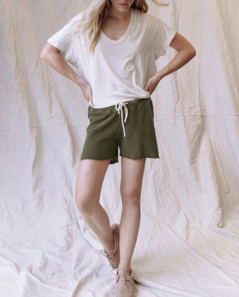 The Sweat Short. -- OLIVE
